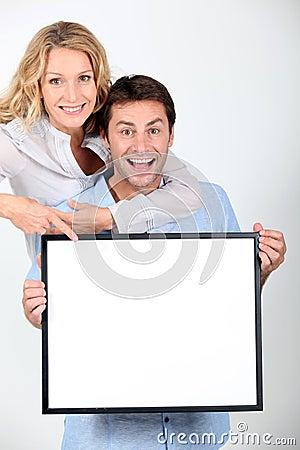 Enthusiastic couple