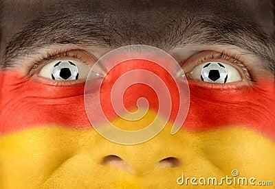 Enthusiastic German soccer fan