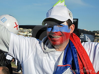 Enthusiastic slovenian soccer world cup fan Editorial Photography