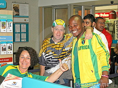 enthusiastic south african soccer world cup fans Editorial Image