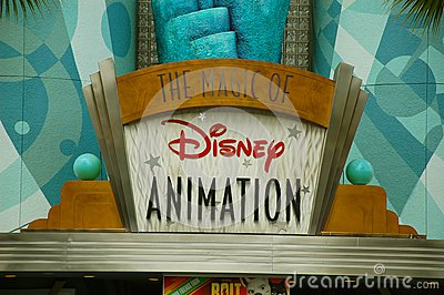 Entrée d animation de Disney Photographie éditorial
