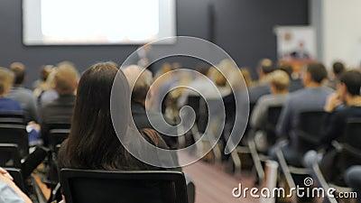 Entraînement du concept 4k d'affaires de conférence de réunion de séminaire de tutelle banque de vidéos