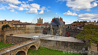 Entrada na cidade fortificada Carcassone