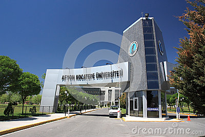 Entrance of Afyon Kocatepe University Editorial Stock Photo