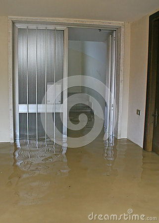 Free Entrance And Staircase Of The House Invaded By Mud 1 Royalty Free Stock Photo - 29464785