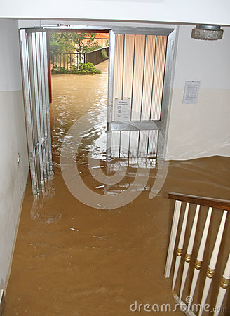 Free Entrance And Staircase Of The House Invaded By Mud  2 Stock Photo - 29464770