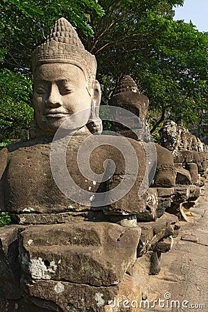 Entrance of Angkor Thom, Cambodia