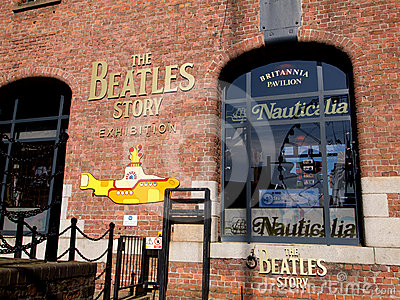 Entrance of the Beatles Story Editorial Image