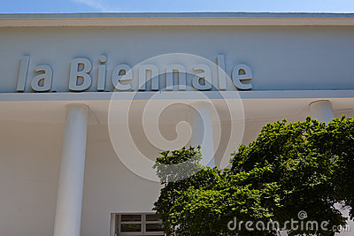 Entrance of the Biennale di Arte, Venice, Italy