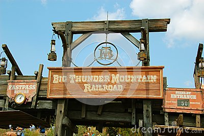 Entrance for Big Thunder Mountain Editorial Photo
