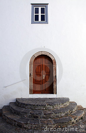 Entrance in church