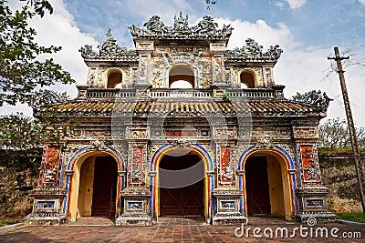 Entrance of Citadel, Hue, Vietnam.