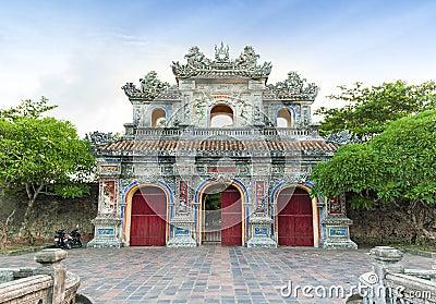 Entrance of Citadel, Hue, Vietnam. Unesco World Heritage Site.