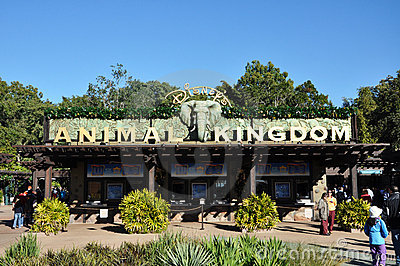 Entrance of Disney Animal Kingdom Editorial Image