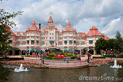 Entrance in Disneyland Paris Editorial Stock Photo