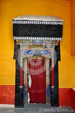 Entrance door of a Buddhist temple
