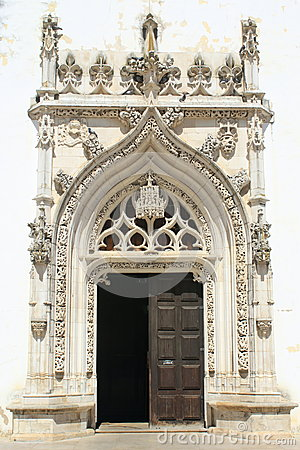 Entrance door of church
