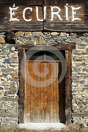 Free Entrance Door To A Horse Stable Royalty Free Stock Photo - 27962505
