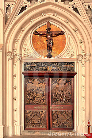 Entrance door to a church