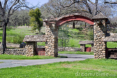 Entrance gate at Aetna Springs California