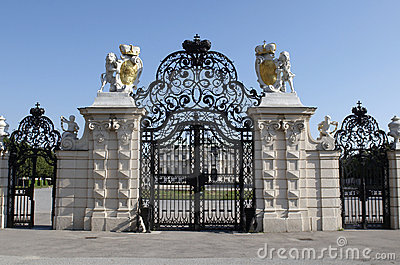 Entrance gate of Belvedere