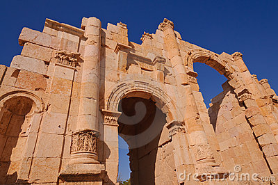 Entrance gate to ancient city of Jerash