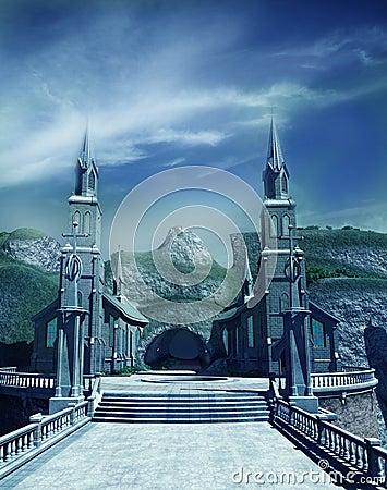 Free Entrance Gate To Fantasy Castle Stock Image - 15867871