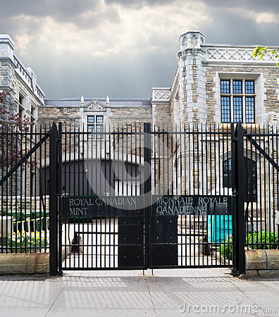 Free Entrance Gate To The Royal Canadian Mint Stock Photo - 24780940