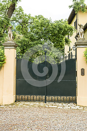 Entrance gate of an italian  villa