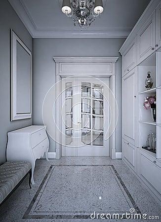 Free Entrance Hall Art Deco Style Stock Photo - 56433610