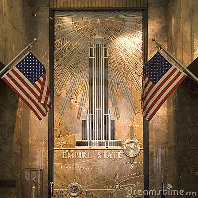 Entrance hall of empire state building Editorial Photography