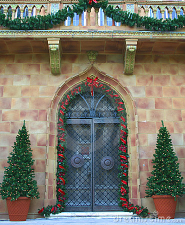 Entrance in Holiday Colors