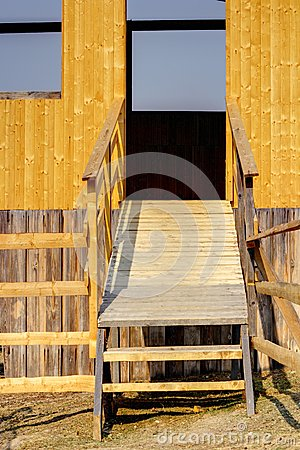 Entrance of a hunting hide