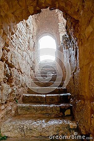 Free Entrance In Medieval Ajlun Castle, Jordan Stock Images - 23745484