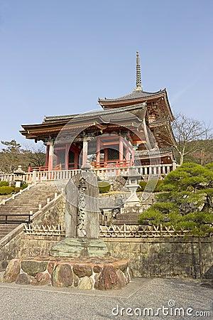 Entrance of Kiyomizu-dera temple, Kyoto, Japan.