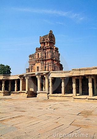 The entrance of the Krishna temple ruins, Hampi