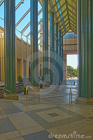 Entrance of The Los Angeles County Museum of Art Editorial Photography