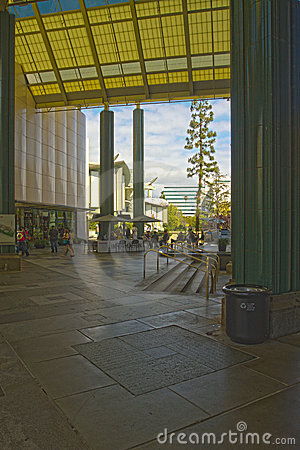 Entrance of The Los Angeles County Museum of Art Editorial Stock Photo