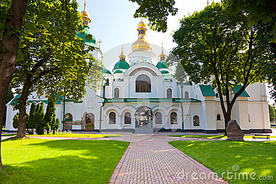 Entrance in Saint Sophia Cathedral in Kiev