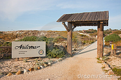 Entrance sign to Asilomar State Park Editorial Photo