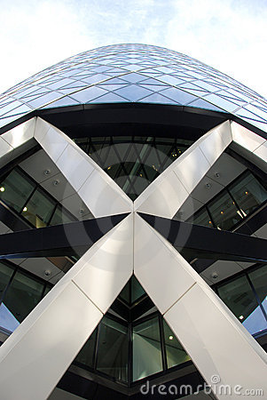 Entrance of St Mary Axe London