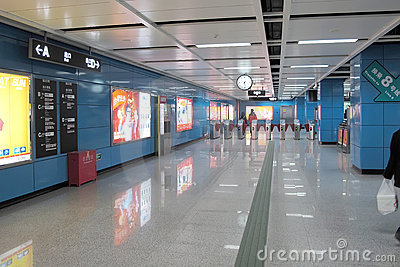Entrance of subway station Editorial Image