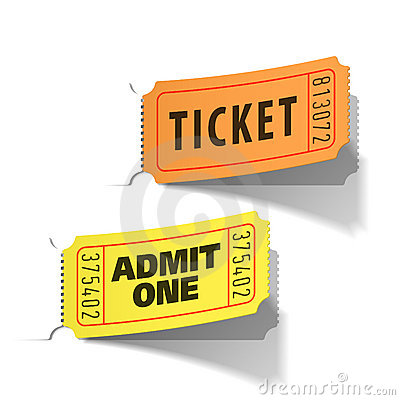 Free Entrance Tickets Royalty Free Stock Image - 16877186