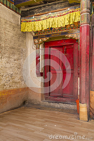 Free Entrance To A Buddhist Monastery In Ladakh, India Stock Photos - 27755573