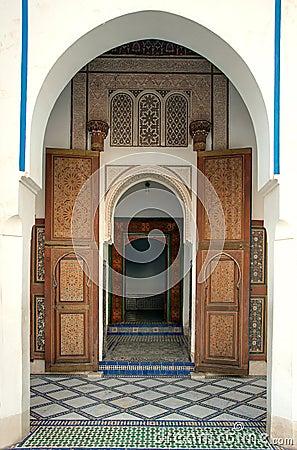Entrance to Bahia Palace, Marrakech, Morocco