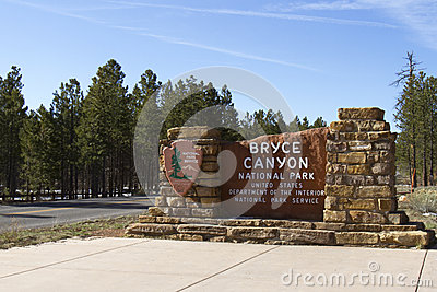 Entrance to Bryce Canyon National Park Editorial Photo