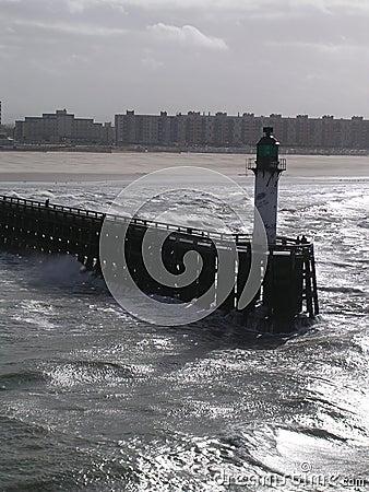 Entrance to Calais Harbour.