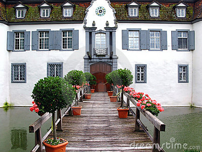 Entrance to the castle Bottmingen, Switzerland
