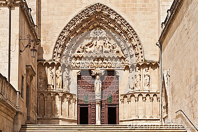 Entrance to the Cathedral in Burgos, Spain