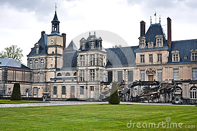 Entrance to the Chateau de Fontainebleau, Paris